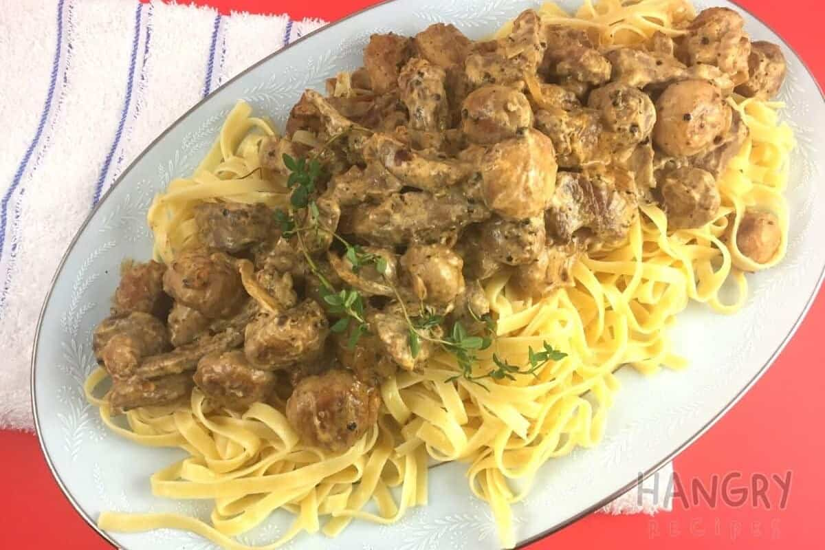 Beef Stroganoff with Buttery Noodles