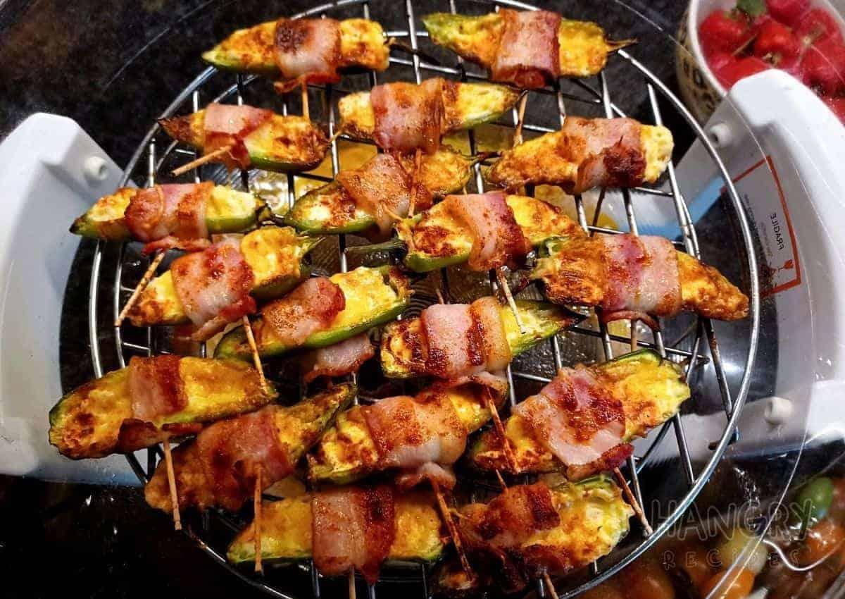 Cheesy Stuffed Bacon Wrapped Jalapeños
