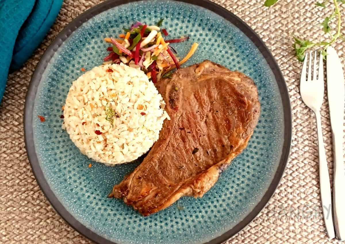 Marinated Club steak