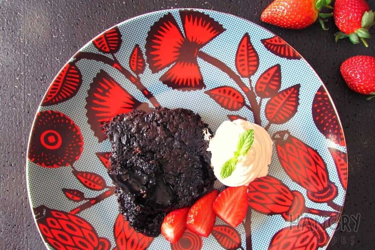 Rich Chocolate Pudding with the most decadent sauce ever