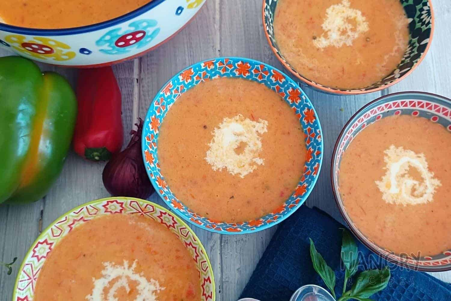 Creamy Red and Green Pepper Soup