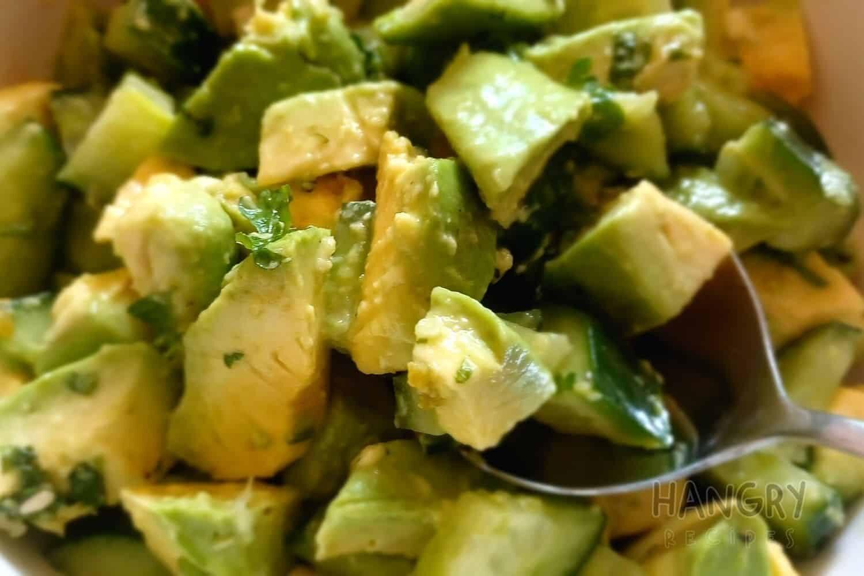 Crunchy Cucumber and Avocado Salad