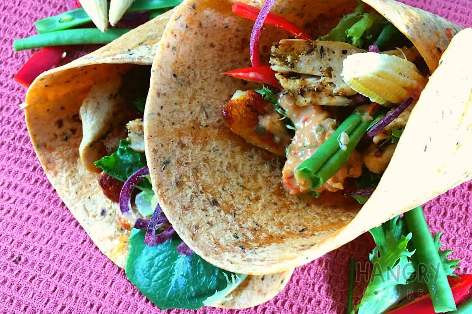 Healthy Mexican Burritos with Chicken and Halloumi Cheese
