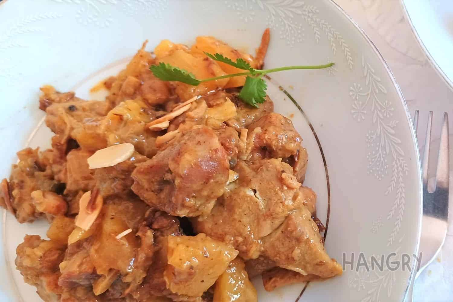 Moroccan Flavoured Pineapple and Pork Stew