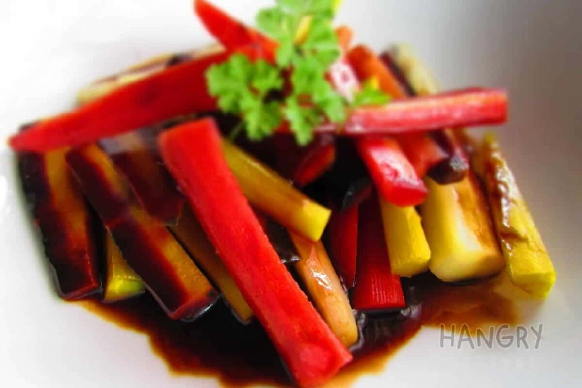 Rainbow Carrots Smothered in a Balsamic Reduction