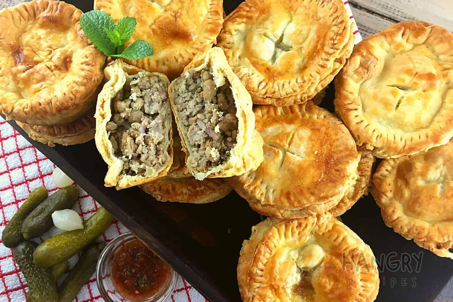 Spicy Pork Pies Filled With Diced Bacon