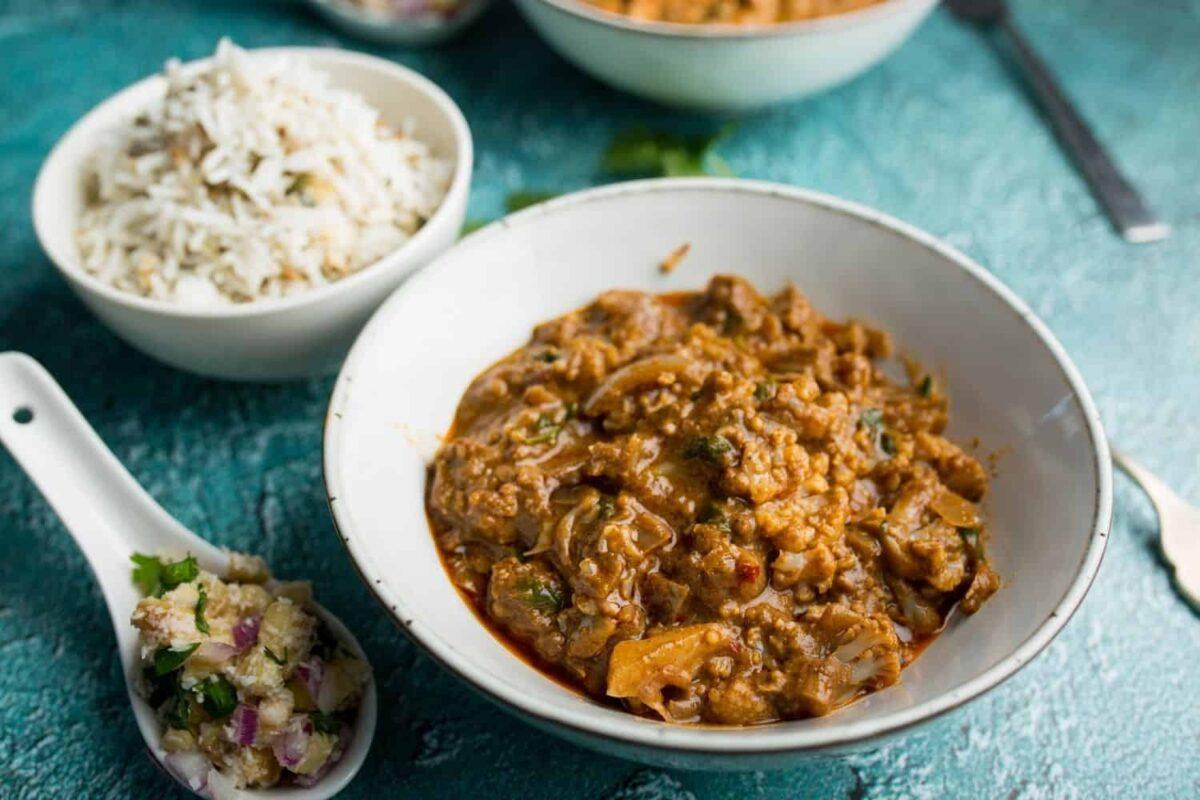 Cauliflower Tikka Masala with Seeded Basmati & Red Onion Salsa