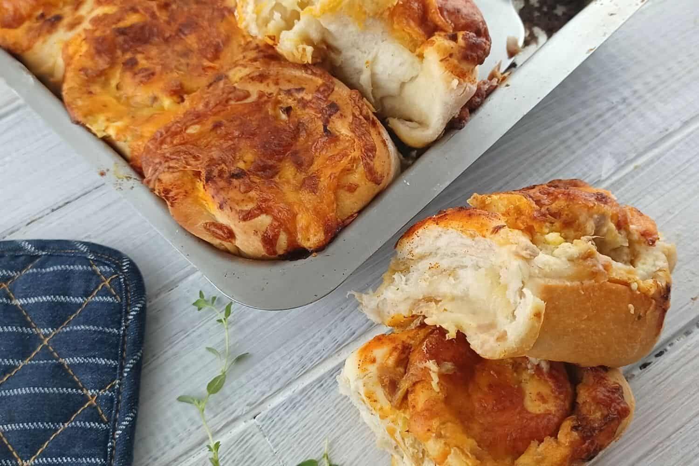 Creamy Tuna and Cream Cheese Freshly Baked Bread Rolls