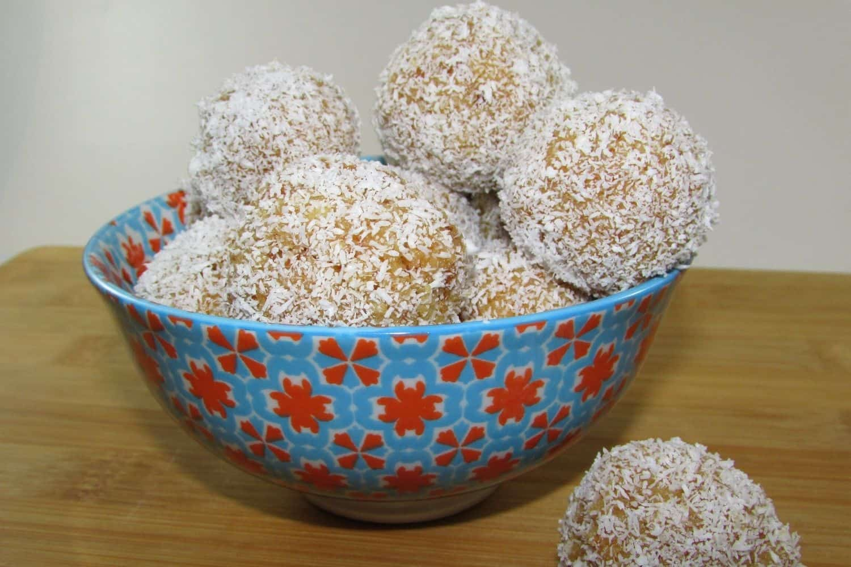 Decadent White Coconut Cake Balls