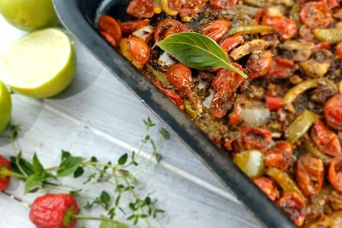 Pasta with Cherry tomato and Basil Pesto