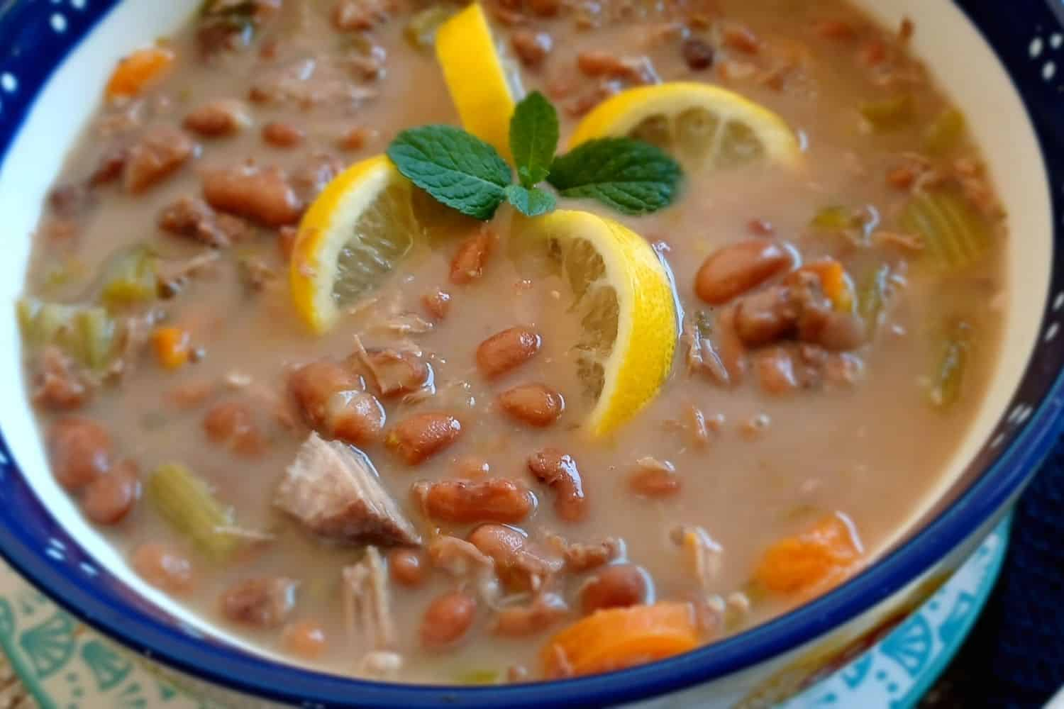 Pork Bean Soup Infused with Cumin