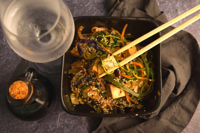 Tofu Stir Fry with Crunchy Veg & Zucchini Noodles