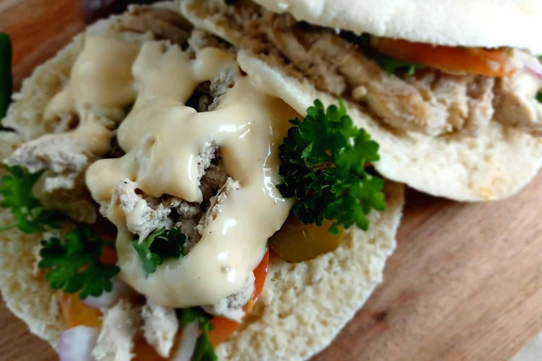 Chicken Shawarma Middle Eastern Sandwich
