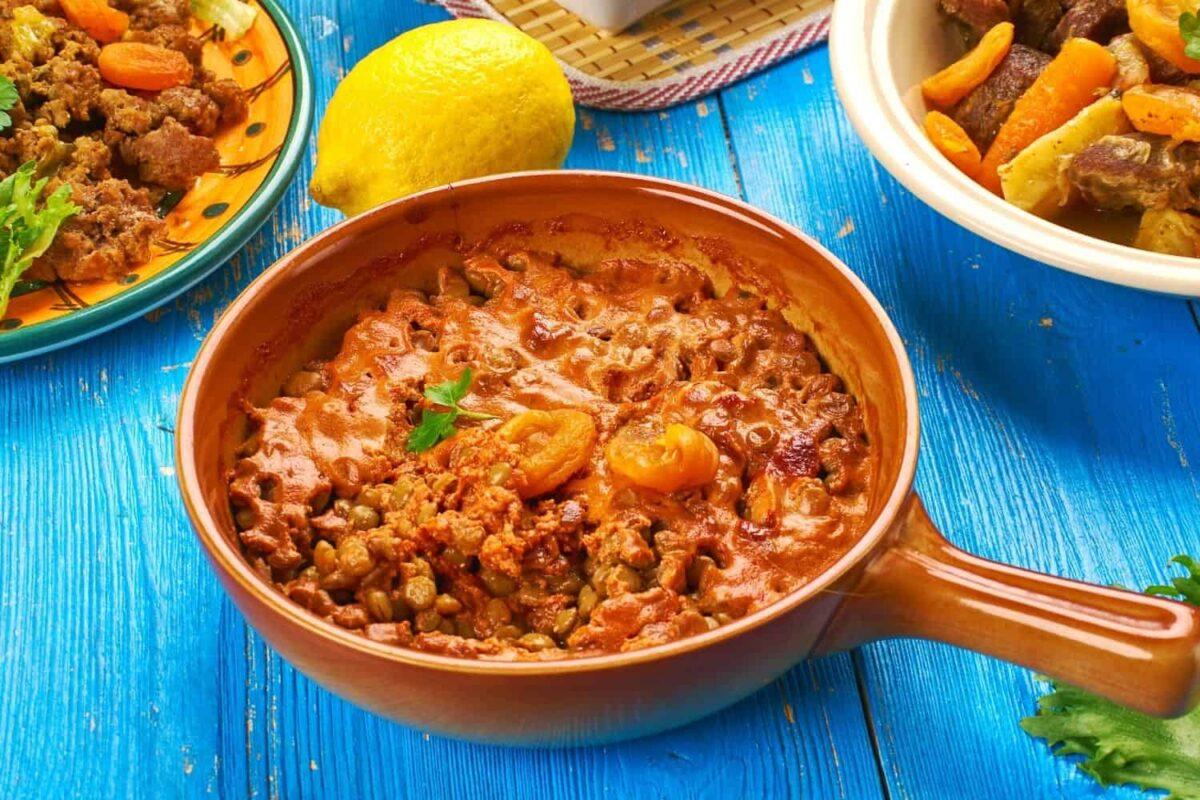 Lentil Bobotie with Turmeric Basmati and Green Peas