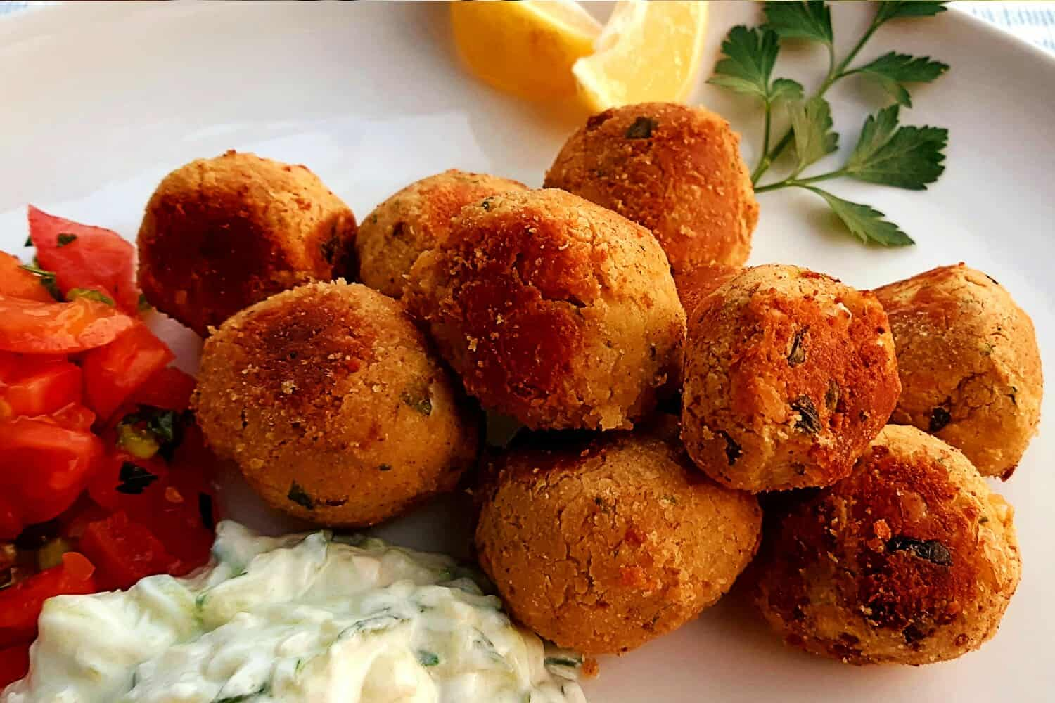 Healthier Chickpea Falafel, Sealed and Oven-Fried